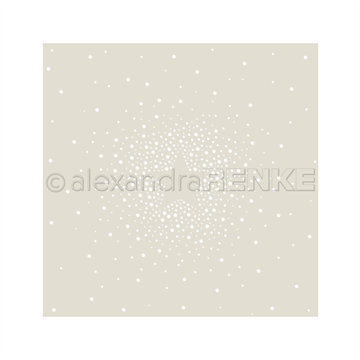 Happymade - Alexandra Renke - Stencil - Star Made of Dots (KbST-AR-W0015)