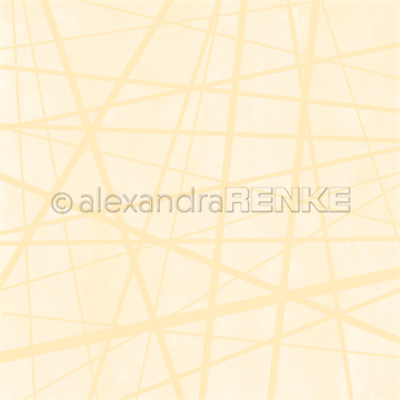 "Happymade - Alexandra Renke - 12x12"" - Wild Stripes Pastel Yellow - 10.1820"