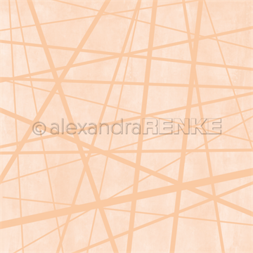 "Happymade - Alexandra Renke - 12x12"" - Wild Stripes Pastel Orange - 10.1847"