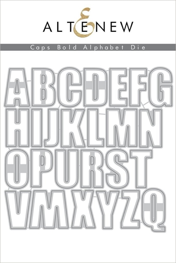 Happymade - Altenew die set - CAPS Bold Alphabet