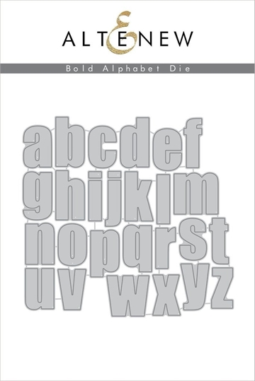 Happymade - Altenew die set - Bold Alphabet