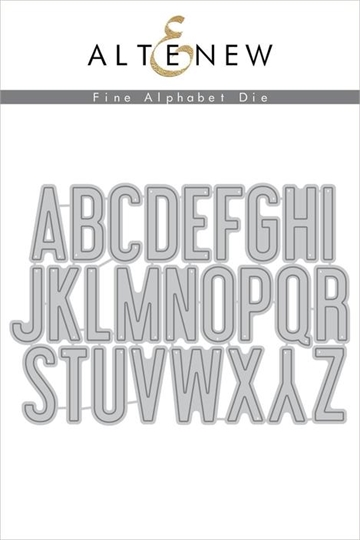 Happymade - Altenew die set - Fine Alphabet