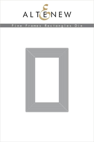 Happymade - Altenew die - Fine Frames Rectangles