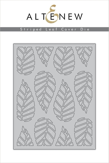 Happymade - Altenew Cover die - Striped Leaf