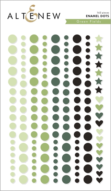 Happymade - Altenew - Enamel Dots - Green Fields (pakn. m/163 stk.)