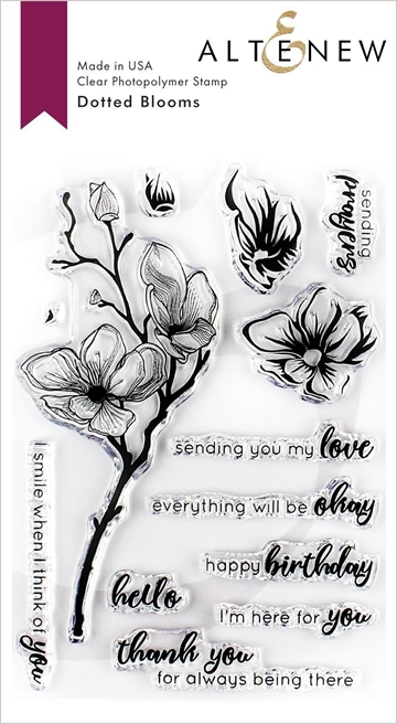 Happymade - Altenew clear stamp set - Dotted Blooms
