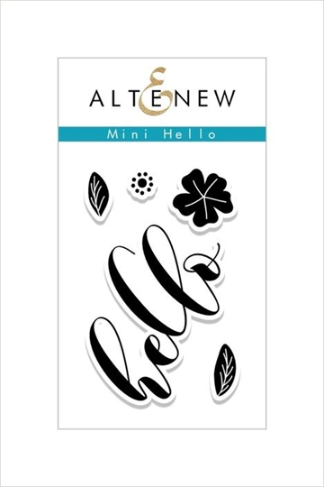 Happymade - Altenew clear stamp set - Mini Hello