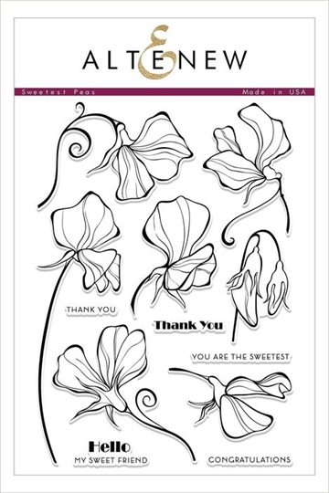 Happymade - Altenew clear stamp set - Sweetest Peas