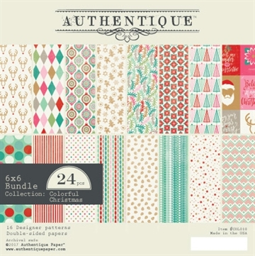 Happymade - Authentique - Paper Pad - Colorful Christmas (COL010)