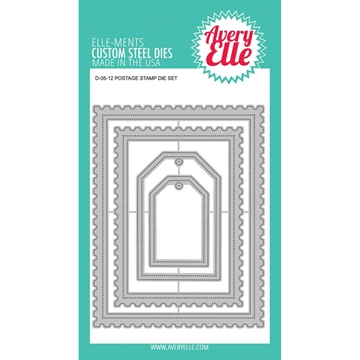 Happymade - Avery Elle die set - Postage Stamp die (D0512)