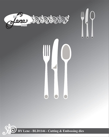 Happymade - By Lene Design - Die - Cutlery - BLD1146