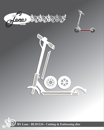 Happymade - By Lene Design - Die - Scooter - BLD1234