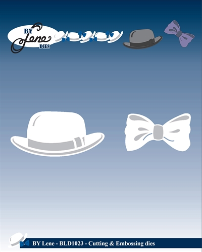 By Lene Design - Die - Bowler hat and bow - BLD1023