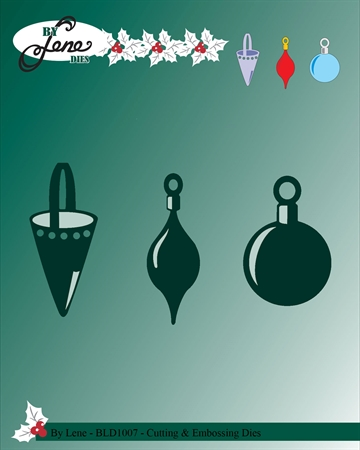 Happymade - By Lene Design - Die - Christmas bells and cornet - BLD1007