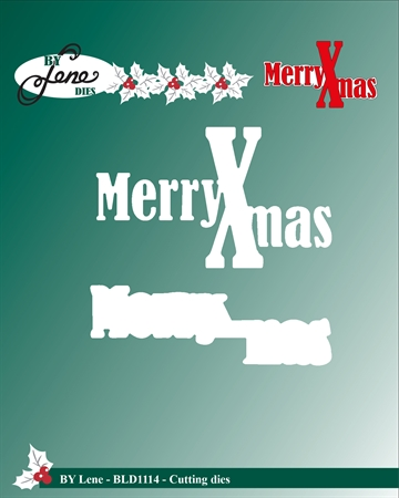Happymade - By Lene Design - Die - Merry X-Mas (BLD1114)