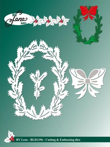 Happymade - By Lene Design - Die - Holly Wreath (BLD1296)