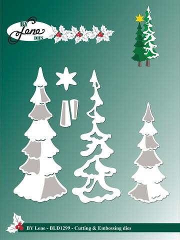 Happymade - By Lene Design - Die - Snowy Trees (BLD1299)