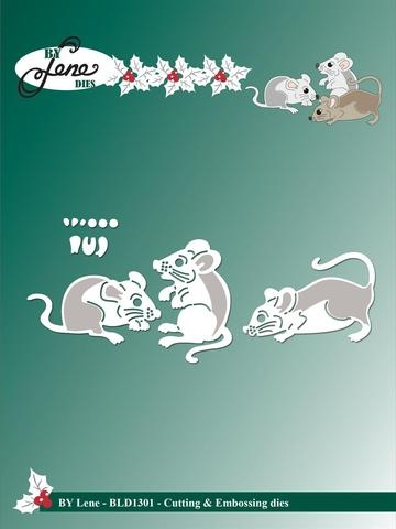 Happymade - By Lene Design - Die - Mice (BLD1301)