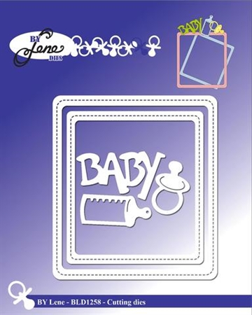 Happymade - By Lene Design - Die - Baby Frame -  BLD1258