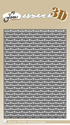 Happymade - By Lene Design - Embossing folder - Woven - BLE1006