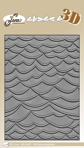 Happymade - By Lene Design - Embossing folder - Waves - BLE1007