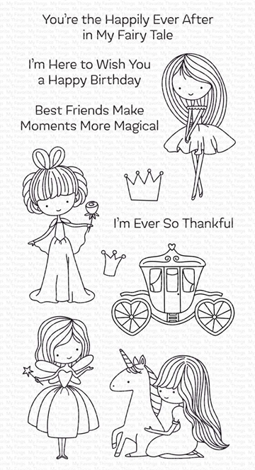 Happymade - My Favorite Things clear stamp - Pretty Princess (CS-535)