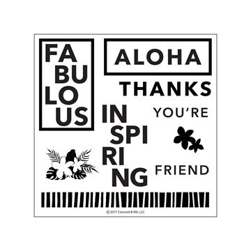 Concord & 9th clear stamp - Aloha Friend