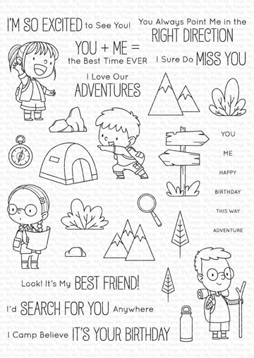 Happymade - My Favorite Things clear stamp - Adorable Adventures (BB-108)