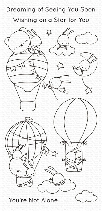 Happymade - My Favorite Things clear stamp - Sky-High Friends (CS-493)