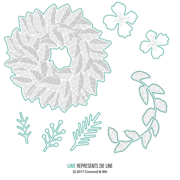 Happymade - Concord & 9th - Die - Magnolia wreath