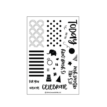 Happymade - Concord & 9th clear stamp set - Celebrations