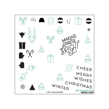Happymade - Concord & 9th clear stamp - Christmas Cheer Turnabout