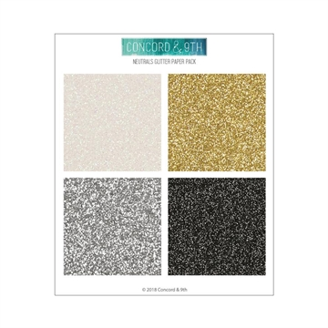 "Happymade - Concord & 9th - Paper Pack - Neutrals Glitter (6x6"")"