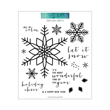 Happymade - Concord & 9th clear stamp - Snow Flurry Turnabout