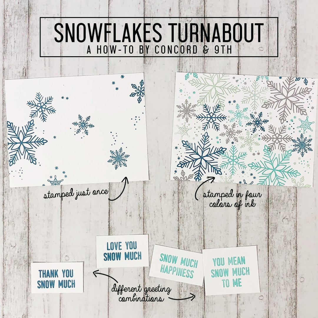 Happymade - Concord & 9th clear stamp - Snowflakes Turnabout 1