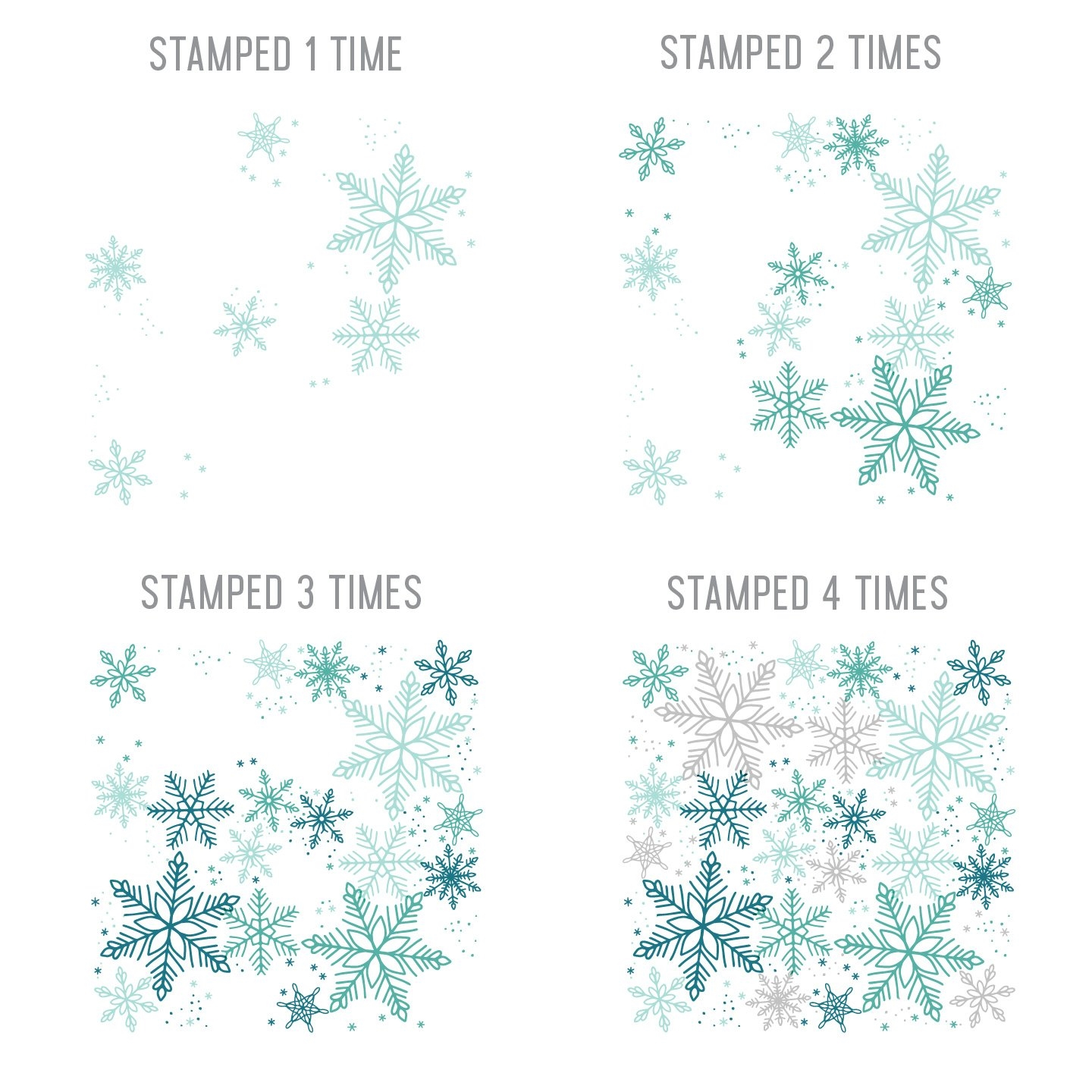 Happymade - Concord & 9th clear stamp - Snowflakes Turnabout 2