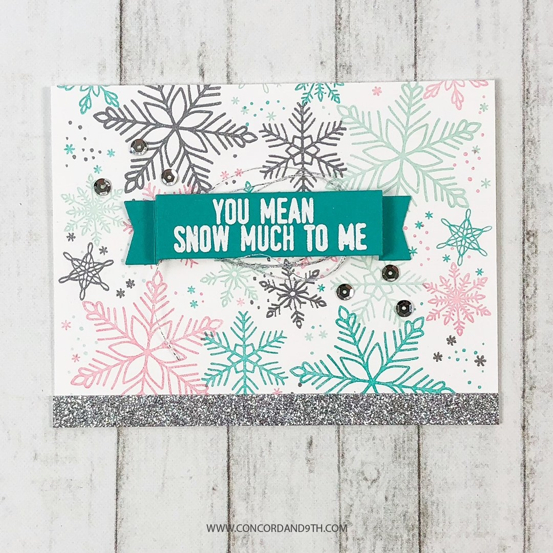 Happymade - Concord & 9th clear stamp - Snowflakes Turnabout 3