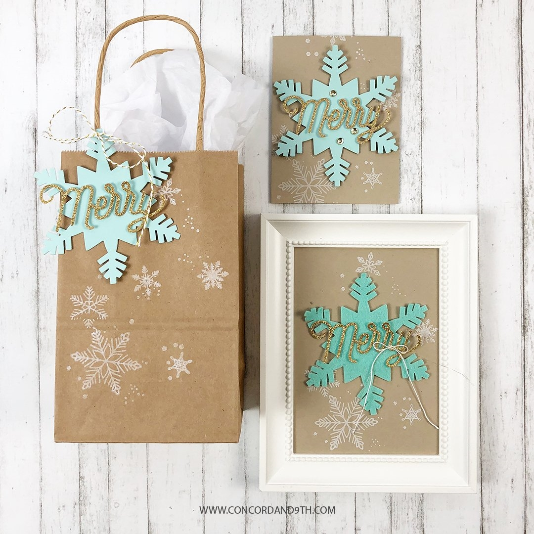 Happymade - Concord & 9th clear stamp - Snowflakes Turnabout 4