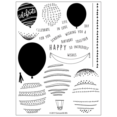 Concord & 9th - Stamp set - Happy Balloons