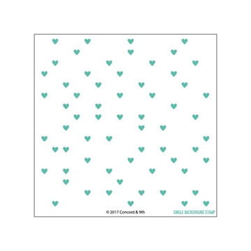 Happymade - Concord & 9th clear stamp - Heart Turnabout