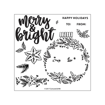 Happymade - Concord & 9th clear stamp set - Ornamental