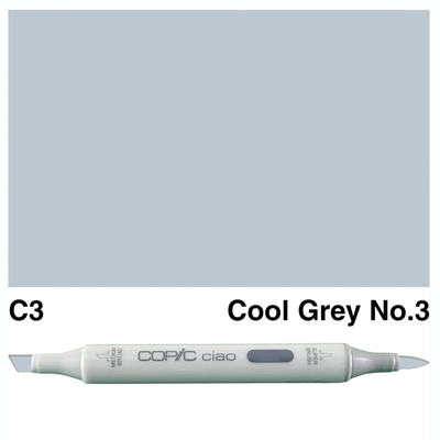 Happymade - Copic Ciao - Fv. C3 - Cool Gray 3