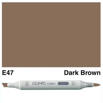Happymade - Copic Ciao - Fv. E47 - Dark Brown