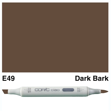 Happymade - Copic Ciao - Fv. E49 - Dark Bark