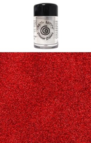Happymade - Cosmic Shimmer - Sparkle Shakers - Cherry Red - 10ml.
