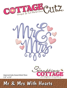 CottageCutz - Mr & Mrs With Hearts
