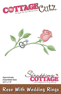 CottageCutz - Rose With Wedding Rings