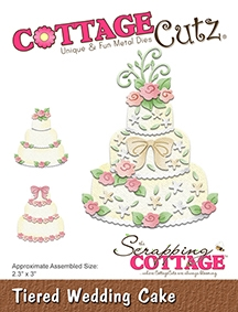 CottageCutz - Tiered Wedding Cake