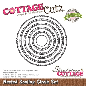 CottageCutz - Nested Scallop Circle Set