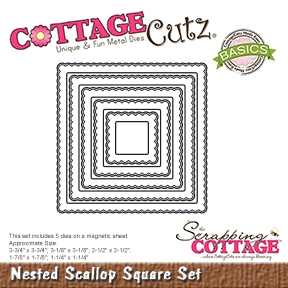 CottageCutz - Nested Scallop Square Set